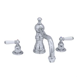 3755 Perrin & Rowe Three Hole Bath Tap Set With Country Spout Lever